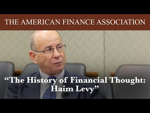 The History of Financial Thought: Haim Levy