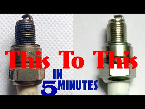 How To Clean Spark Plug Of Bike at home | easy 5 minute process in hindi