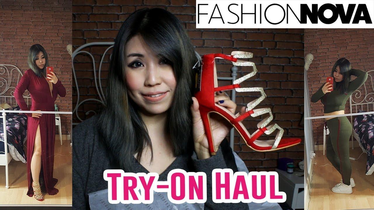 cb4824def5e1 Fashion Nova Try On Clothing Haul - Kylie Dress   High Heel Shoes ...