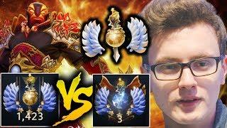 Miracle- TA VS Ember Spirit 1423 Divine Rank 5 Stars Dota 2