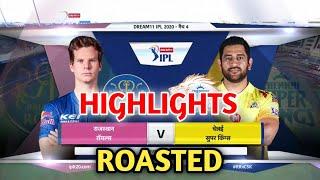 RR vs CSK HIGHLIGHTS ROAST | CSK vs RR HIGHLIGHTS | IPL HIGHLIGHTS FUNNY VIDEO #ipl