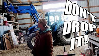 She Attempts to Lift Expensive Equipment With the New Holland Tractor Loader!