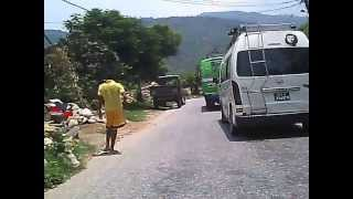 Nepal Highway: driving in a section of Prithvi Highway
