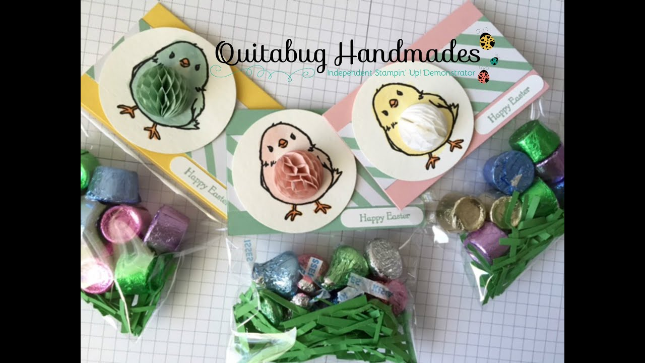 Stampin up easter treat bag topper using honeycomb happiness youtube negle