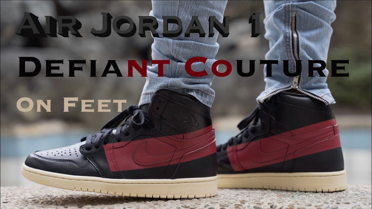 online store 29a38 07b24 Air Jordan 1 Defiant Couture On Feet