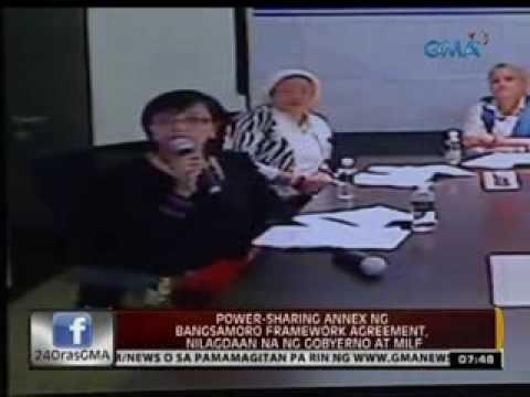 24 Oras: Power-sharing annex ng Bangsamoro framework agreement, nilagdaan na ng Gobyerno at MILF