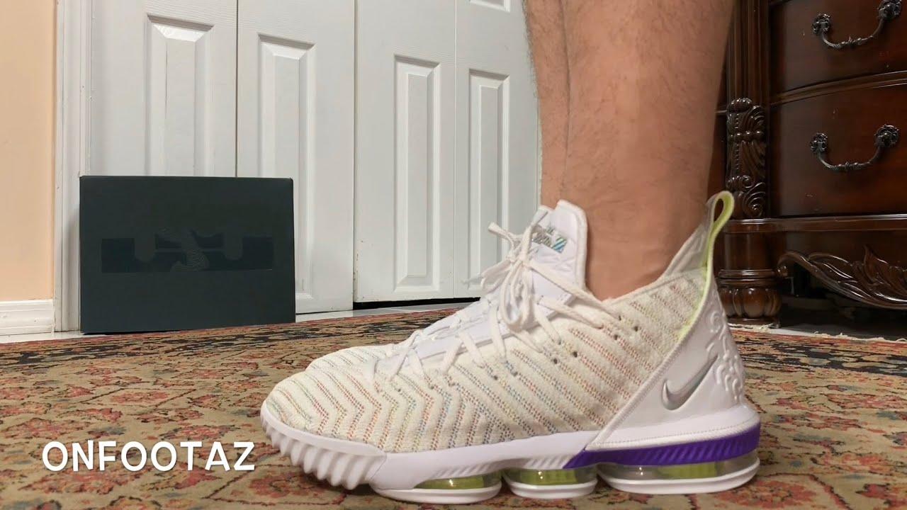 1ce5d2935e Nike Lebron 16 XVI Buzz Lightyear On Foot - YouTube