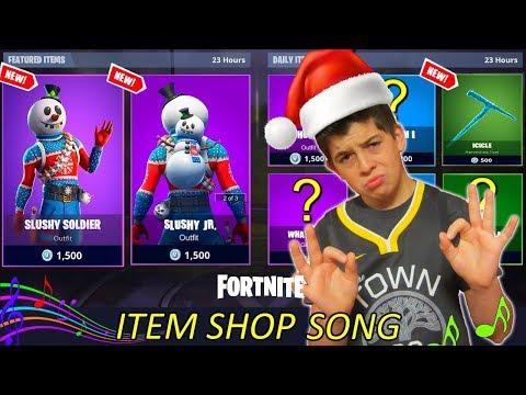 *NEW CHRISTMAS SKIN SLUSHY SOLDIER* Item Shop Countdown 7 Song - Fortnite Season 7 - NinjaFury - 동영상