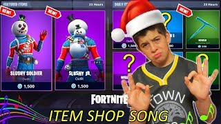 *NEW CHRISTMAS SKIN SLUSHY SOLDIER* Item Shop Countdown 7 Song - Fortnite Season 7 - NinjaFury
