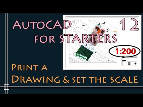 AutoCAD 2D - How to Scale a drawing - PART 2 (Printing using Layout!)
