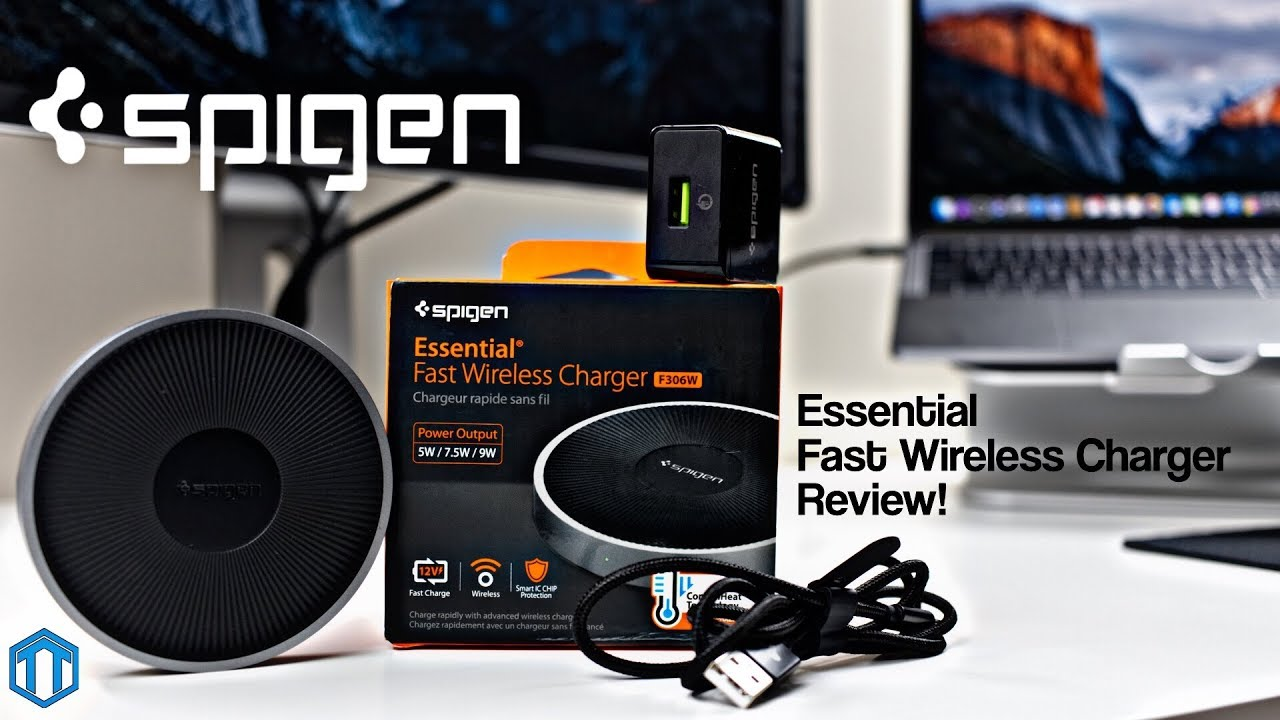 huge discount ee674 1749d Spigen Essential Fast Wireless Charger Unboxing & Review!