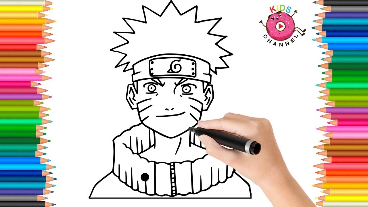 How to Draw Naruto Uzumaki, Face | Naruto Coloring Page | Coloring ...