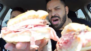 """Eating Firehouse Subs """"New York Steamer"""""""