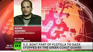 Gaza Flotilla boat stopped by Greek coast guard