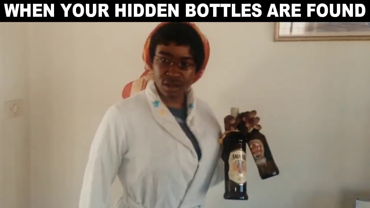 AFRICAN MUM'S REACTION TO DRINKING
