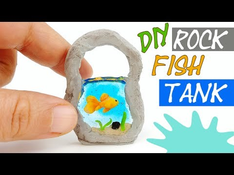 How to make miniature goldfish tank aquarium tutorial polymer clay resin diy craft