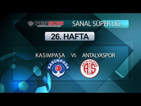 Kasımpaşa - Antalyaspor | PES 2018 Sanal Süper Lig 26. Hafta
