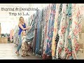 Buying trip to LA | How to design your own clothing line | Vlog #1 of 2018 | Owning a Boutique