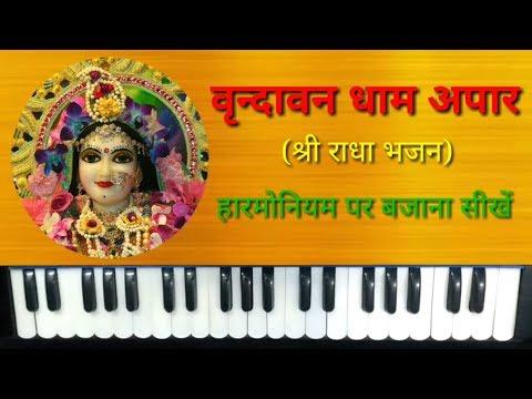 Vrindavan Dham Apar Jape Ja Radhe Radhe on Harmonium | Shri Mridul Krishan Shastri Ji Ke Bhajan