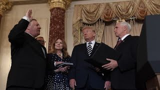 Mike Pompeo Swearing In Ceremony, From YouTubeVideos