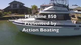 Markline 850 Flybridge Cruiser for sale Action Boating, boat sales, Gold Coast, Queensland
