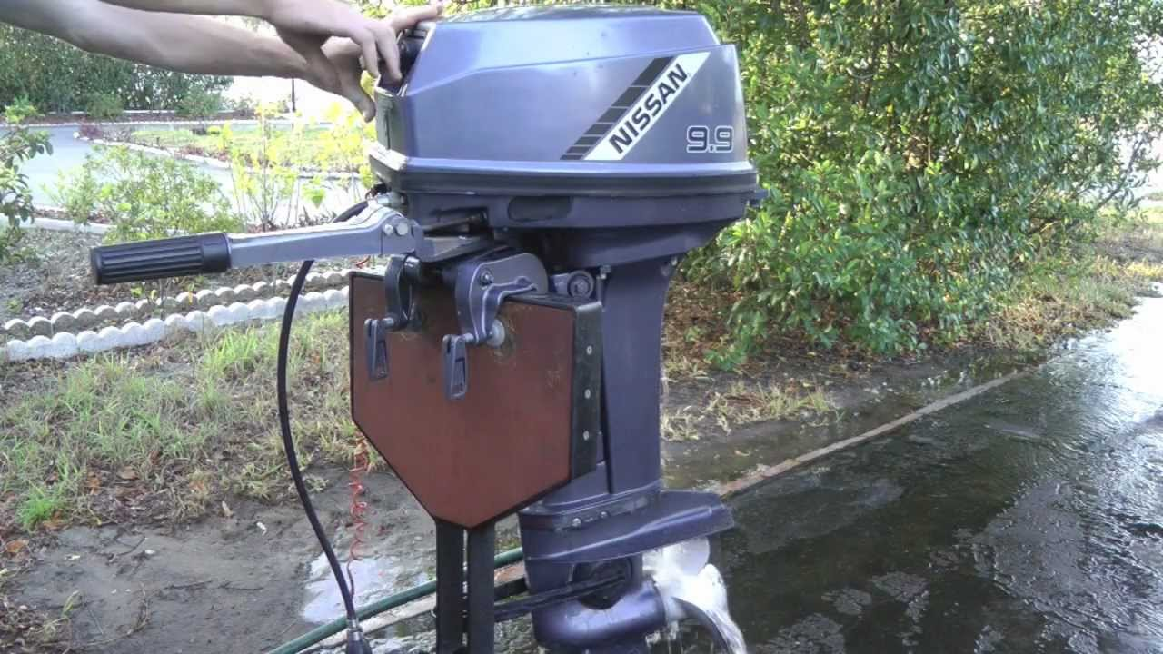 Nissan 2 stroke outboard motor youtube Two stroke outboard motors