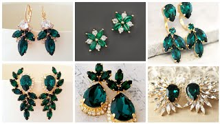 Most Beautiful And Luxury  Real Emerald And Diamond Earrings Designs