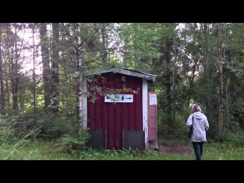 Green organic toilet in Finland.