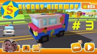 Мультики про машинки смотреть онлайн Игровой мультик для мальчиков Blocky Highway #3 Cars cartoon