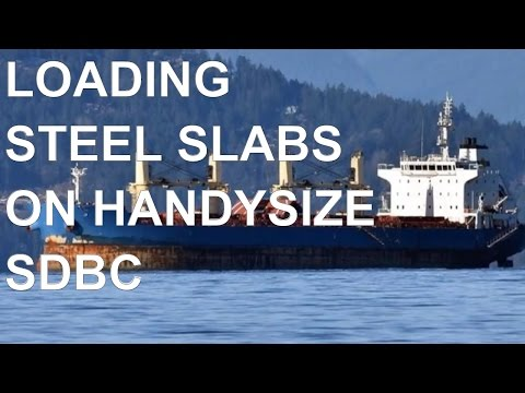 Handysize Ship 33200 DWT SDBC Loading 22000 mts Steel Slabs