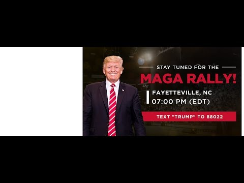 LIVE: President Trump In Fayetteville, NC
