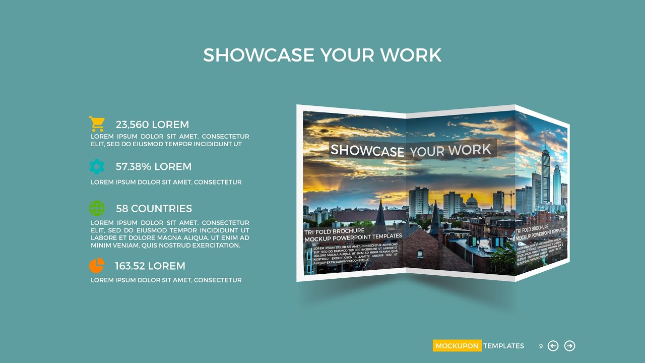 Powerpoint tri fold mock up template youtube for Tri fold brochure template powerpoint
