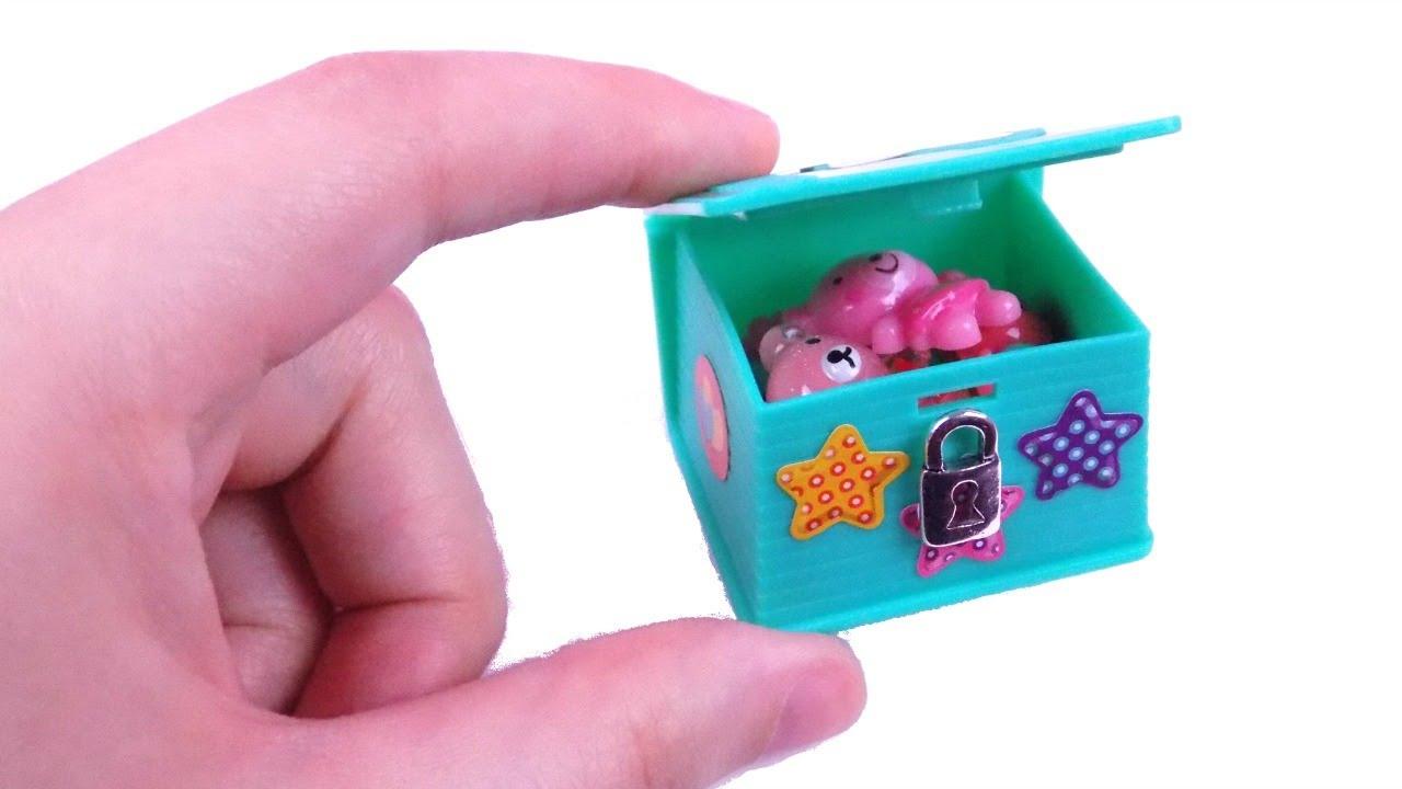 DIY Miniature Dollhouse Toy Box - How to Make LPS Crafts, Doll Stuff &  Miniature Dollhouse Things