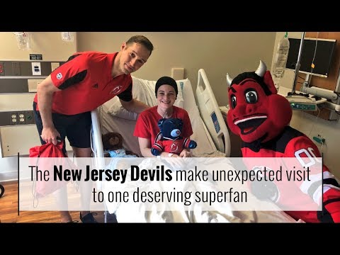 The New Jersey Devils make unexpected visit to one deserving superfan