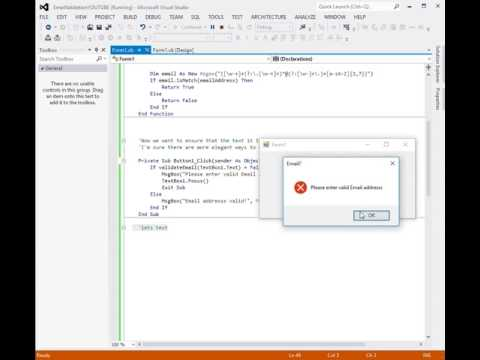 VB.NET How To Validate Email In Textbox And Open Default Email Application