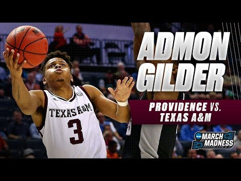 Texas A&M's Admon Gilder lead the Aggies in scoring in their First Round victory