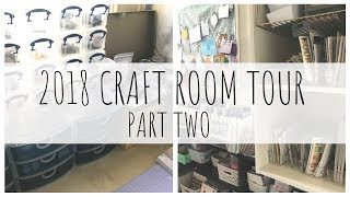 (detailed) CRAFT ROOM TOUR | 2018 | PART TWO | Papercraft, Scraproom | ms.paperlover