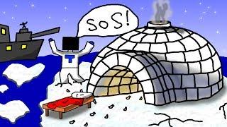 БЕД ВАРС НА СЕВЕРНОМ ПОЛЮСЕ! - (Minecraft Bed Wars)