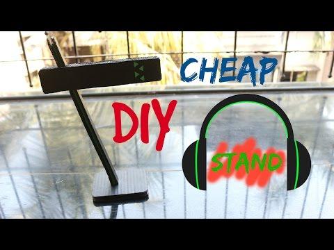 DIY- CHEAP BUT COOL HEADPHONE STAND