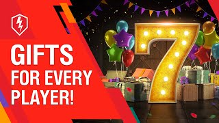 WoT Blitz Turns 7! Get Your Presents!