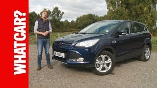 2013 Ford Kuga review - What Car?(Subscribe: http://bit.ly/1fBCZIl The Ford Kuga has many strengths, but are they enough to help it trouble the best in the SUV class? Watch the What Car? video ..., 2013-11-04T12:24:13.000Z)