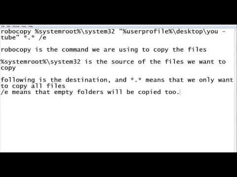 How to copy files using robocopy (cmd) - YouTube