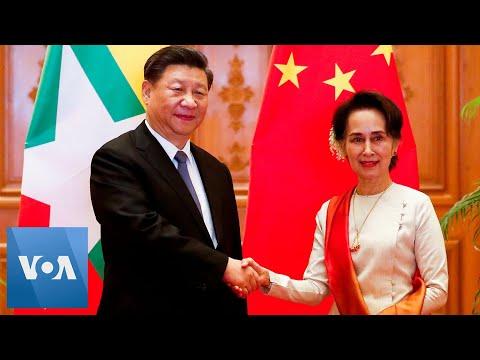 China's Xi, Myanmar's Aung San Suu Kyi Meet, Oversee Signing of Agreements in Naypyitaw