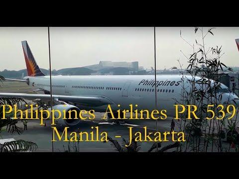 Philippine Airlines PR 539 Manila - Jakarta Flight Experience