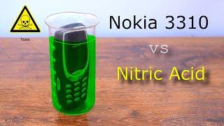 Crazy Experiment: Nokia 3310 vs Nitric Acid. Will He Survive?