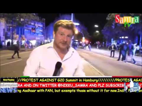 Clashes erupt between anti G20 protesters and police in  Hamburg,Germany