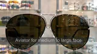 Porsche Design aviator sunglasses P8478 interchange lens