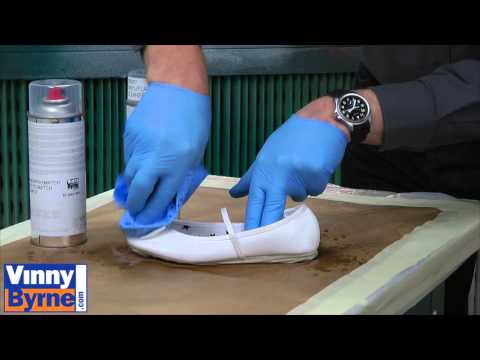 How To Spray A Leather Shoe Youtube