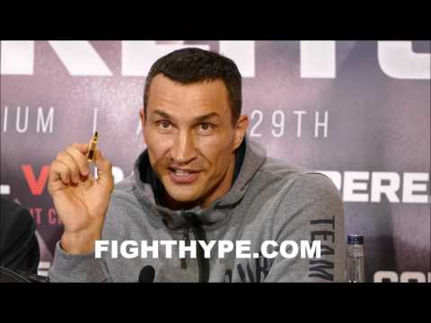 WLADIMIR KLITSCHKO REVEALS SECRET PREDICTION RECORDED ON MEMORY STICK TO BE SOLD AFTER JOSHUA FIGHT