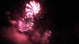 Fuegos artificiales anio nuevo 2012 en Puerto Rico, Misiones, Argentina